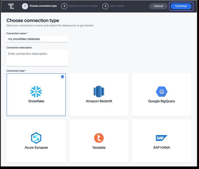 Embrace: Im Juni 2019 wurde die Funktion Embrace anhand einer Partnerschaft mit Snowflake eingeführt. Sie ermöglicht den Zugriff auf Daten, welche extern in Cloud Data Warehouses gespeichert sind. So müssen die Daten nicht erst von einer auf die nächste Datenbank übertragen werden. Stattdessen können Untersuchungen von ThoughtSpot direkt in den Datenbanken stattfinden. Mit neuen Partnerschaften können nun auch Daten von Amazon Redshift, Google BigQuery, Microsoft Azure Synapse, Teradata und SAP HANA integriert werden.