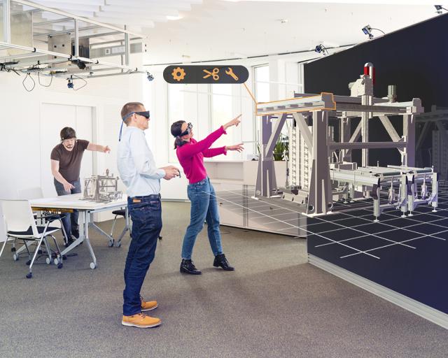 """Um die gemeinsame Entwicklung für interdisziplinäre Teams im Engineering-Bereich effizienter zu gestalten, haben das Fraunhofer IAO und ein Technologie-Start-up die """"CoLEDWall"""" entwickelt. Diese ermöglicht in allen Stufen des Produktentstehungsprozesses eine Multiviewer-Ansicht desselben virtuellen Objekts in Echtzeit."""